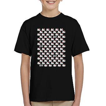 Hello Kitty karakter hode kid & apos; s T-skjorte