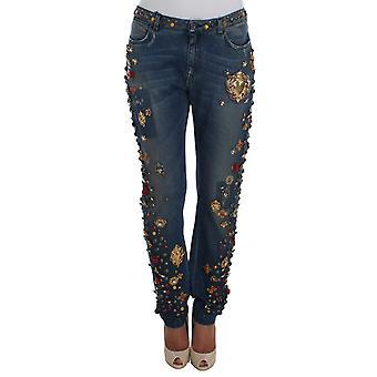Dolce & Gabbana Kristal Güller Kalp Süslenmiş Jeans SIG19329-7