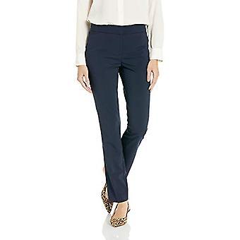 Brand - Lark & Ro Women's Straight Leg Trouser Pant: Classic Fit, Navy...