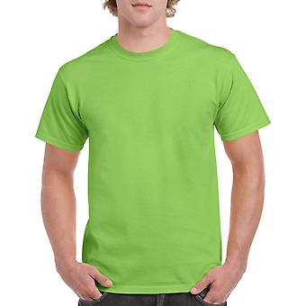 Gildan G5000 Plain Heavy Cotton T Shirt in Lime Green
