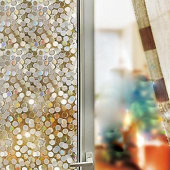 3d No Glue Static Decorative Privacy Window Rainbow Films For Stained Glass -