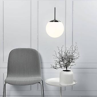 Ceiling Pendant Light Opal White, Glass Globe, E27