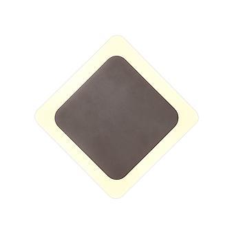 Luminosa Beleuchtung - magnetische Basis Wandleuchte, 12W LED 3000K 498lm, 15, 19cm Diamant-Zentrum, Kaffee, Acryl Frosted Diffusor