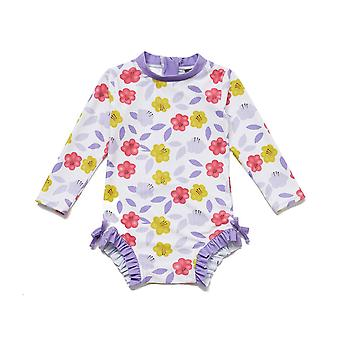 Bonverano Baby Girls UPF 50+ Protection solaire L/S Manches Zip Sunsuit