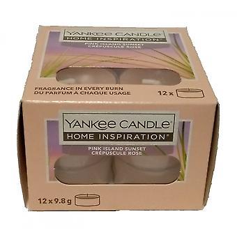 Yankee Kerze Tee Licht Kerzen Rosa Insel Sonnenuntergang
