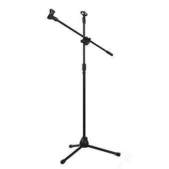 Tripod Stand Professional Swing Boom Floor Stand- Microphone Holder Phone Adjustable Detachable Double Headed Stage Clip Tripod