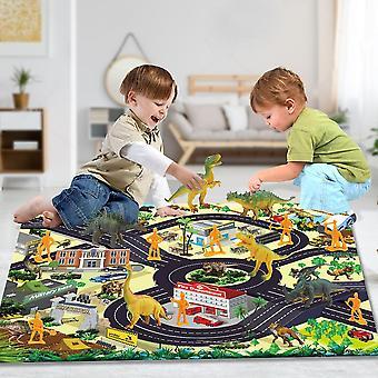 الأطفال & apos;ق ديناصور لعبة محاكاة الحيوان نموذج ديناصور بارك دمية لعبة حصيرة مشهد السجاد
