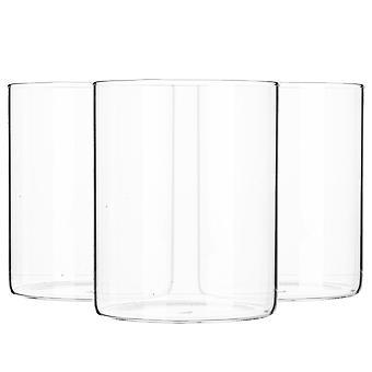 3-osainen minimalistinen säilytyspurkkisarja - pyöreä skandinaavinen tyyli monipuolinen lasikanisteri - 750ml