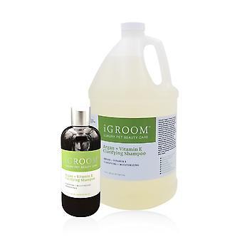 iGroom Argan + Vitamin E Afklaring & Fugtgivende Hund Shampoo
