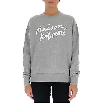 Maison Kitsuné Fw00335km0001grm Women's Grey Cotton Sweatshirt