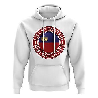 Liechtenstein jalkapallo merkki huppari (valkoinen)