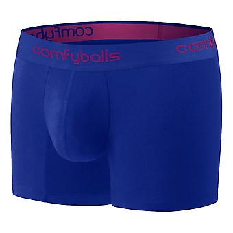 Comfyballs Cotton Long Boxers - Midnight Blue / Purple