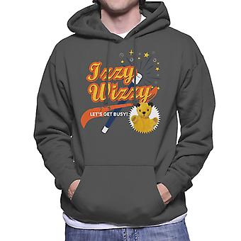 Sooty Magic Wand Izzy Wizzy Let-apos;s Get Busy Men's Hooded Sweatshirt