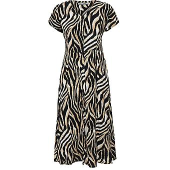 b.young Zebra Print Shirt Dress