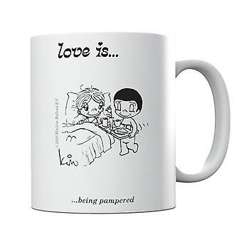 Love Is Being Pampered Mug
