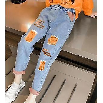 Jarné a jesenné slim fit džínsy - príležitostné nohavice