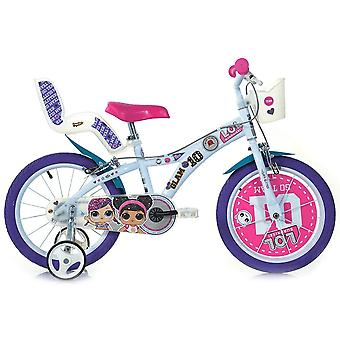 """Dino Bikes - 16 """"lol surprise bicycle with doll's seat and basket for 5 - 8"""