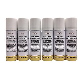 GiGi Anesthetic Numbing Spray 1.5 OZ x 6
