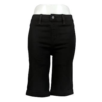 Laurie Felt Women's Shorts Silky Denim Bermuda Pull-On Shorts Negro A292393