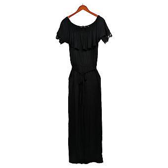 Colleen Lopez Jumpsuits Off-the-Shoulder W/ Lace Detail Black 696-397