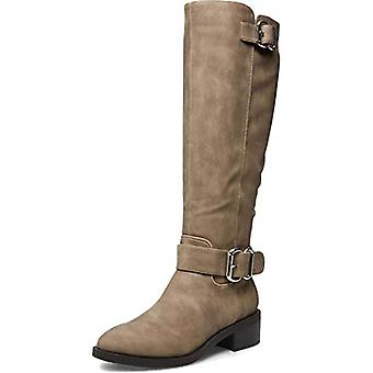 Madden Girl Womens Wit Faux Leather Tall Riding Boots Taupe
