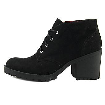 أمريكا خرقة النساء Areaghan النسيج مغلقة أحذية أزياء الكاحل