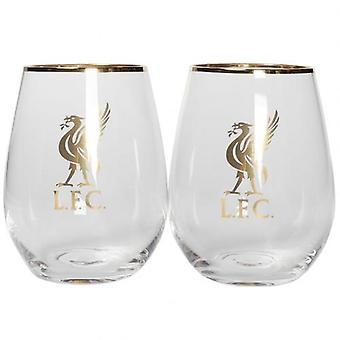 Ensemble de culbuteur de verre fin de Liverpool