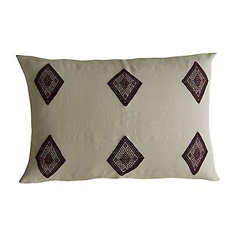 Cotton Universe Pillow With Brocade