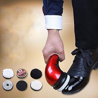 Přenosný ruční automatický elektrický kartáč na boty lesk leštič