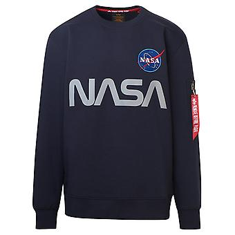 Alpha Industries 17830907 Men's Blue Cotton Sweatshirt