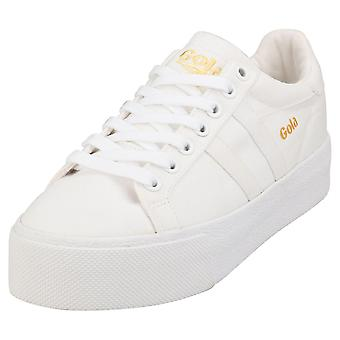 Gola Orchid Platform Womens Casual Trainers in White White