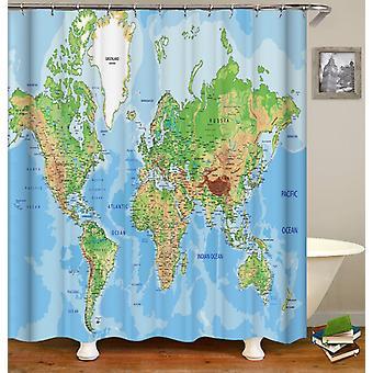 Maailman kartta suihku verho
