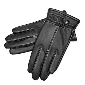 Genuine Sheepskin Leather Windproof Thermal Warm Touchscreen Winter Warm Gloves
