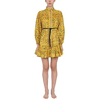 Zimmermann 9607dlluyepr Women's Yellow Cotton Dress