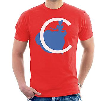 Disney C Silhueta Masculina'camiseta