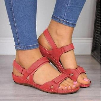 Soft Stitching, Comfortable Flat Sandals, Open-toe Beach Shoes