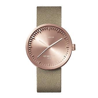 Leff Amsterdam LT71033 D38 Rose Gold Tone Cordura Wristwatch