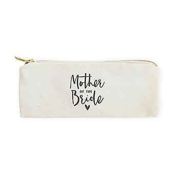 Mother Of The Bride-cotton Canvas Pencil Case And Travel Pouch