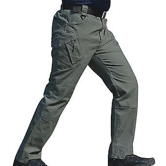 Men Waterproof Work Cargo Long Pants With Pockets Loose Trousers