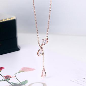 kvarts kirsebærblomster 925 sterling sølv 18k rosa gullbelagt smykker