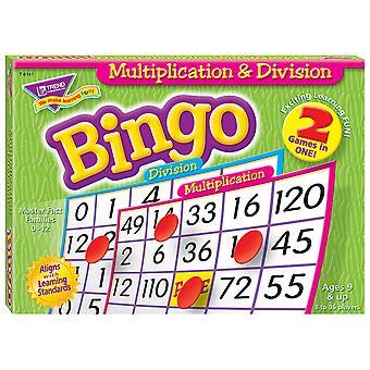 Gioco di bingo a moltiplicazione e divisione (a 2 lati)