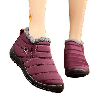 Women Fashion Slip On Winter Warm Shoes Lady Ankle Boot