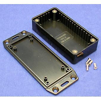 Hammond 1591AFLBK Multipurpose FRABS Enclosure Flanged Lid 100 x 50 x 25 Black
