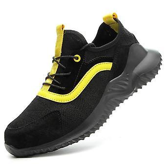 Férfi biztonsági lélegző munka cipő acél toe anti-smashing könnyű cipők