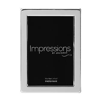 Widdop & Co. Silver Plated Photo Frame Flat Edged 4 X 6