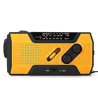 Prenosné AM FM NOAA Rádio solárne kľuky Núdzové počasie Baterka Nabíjateľná power banka pre iPhon