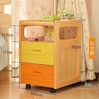 Solid Wood Bedside Small Mini Simple Storage Storage Pine Cabinets