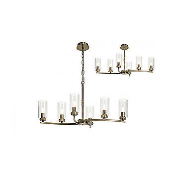 Lámpara Colgante De Diseño Contri 6 Bombillas Latón Antiguo 40,5 Cm