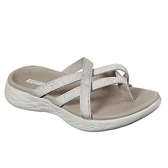 Skechers women's on the go 600 dainty sandal taupe 32158