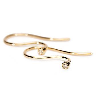 Ganchos de pendiente Trollbeads 18 Ct Oro Diamante TAUEA-00001